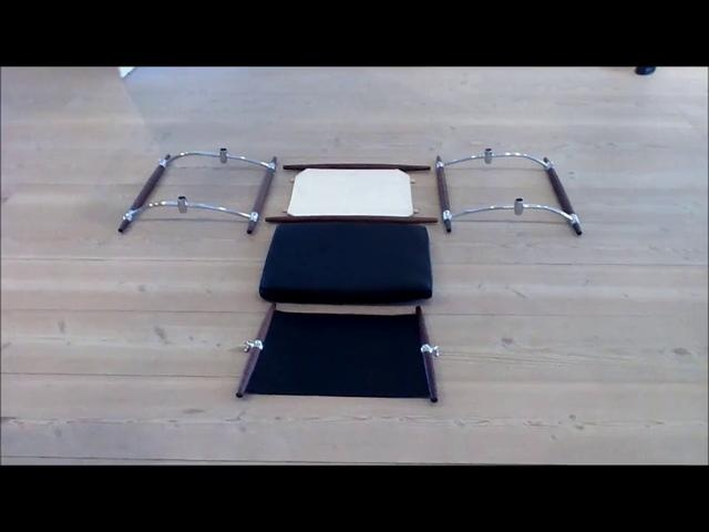 Assembling the Safari Chair by Jens Quistgaard by Gubi. Step-by-step video on how you easily assemble the Safari Chair by Jens Quistgaard produced by Gubi A/S