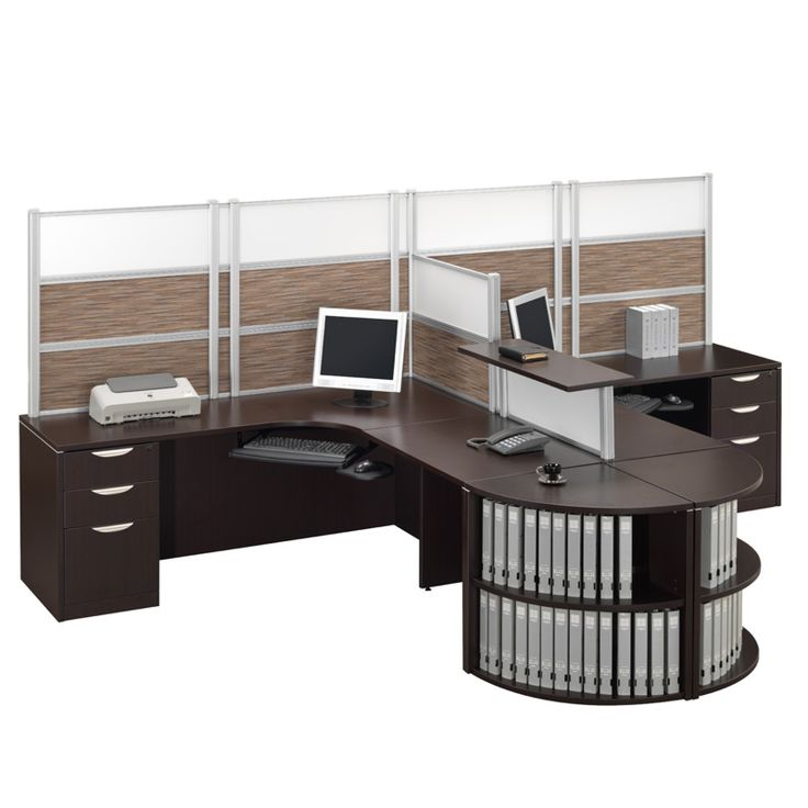 Borders Double L Unit With Bookcase In Espresso. Available At Alternative  Office Solutions 408