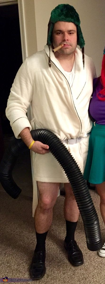 Cortney: My husband is wearing this costume. We decided he would be cousin Eddie, since Christmas Vacation is one of our favorite holiday movies. The part where cousin Eddie is emptying...