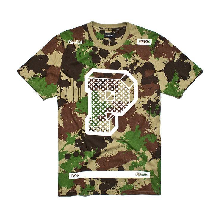 """Koszulka BIG P CAMO Męska koszulka wykonana z najlepszej jakości bawełny. Z przodu nadrukowana litera """"P"""" oraz kolekcyjne hasła."""