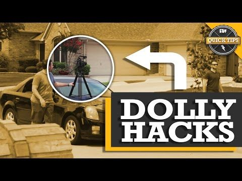 Quick Tips: Household Dolly Hacks using a car, wheelchair, cardboard, and moving a leg up on the tripod.