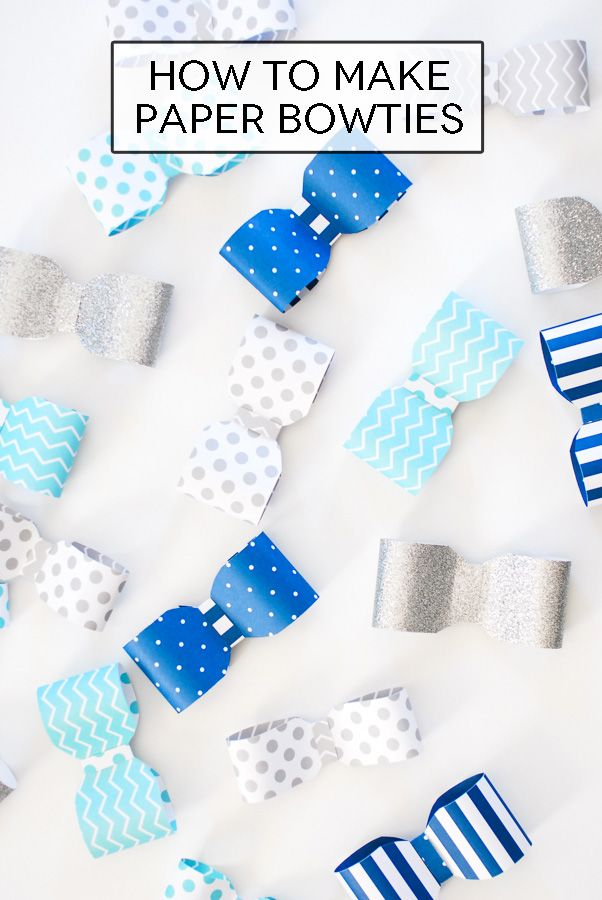 How To Make A Fun Paper Bow Tie Garland. Baby Shower ...