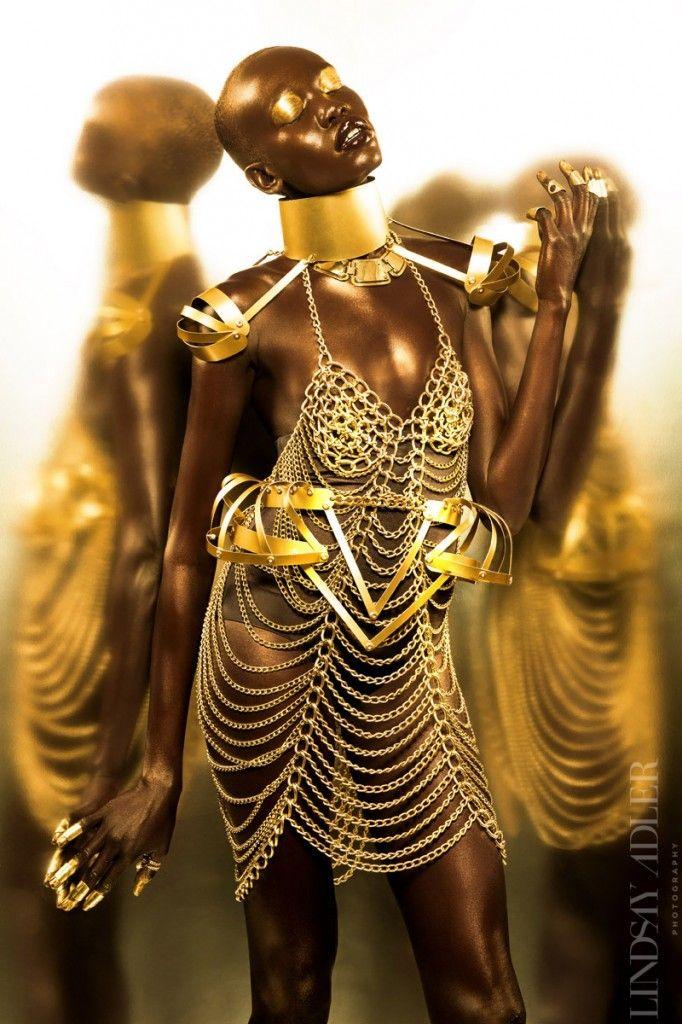 Golden Goddess Editorial in Idol Magazine ‹ Lindsay Adler Photography