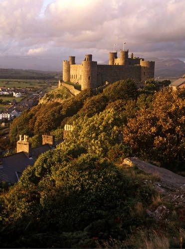 ~Harlech Castle, UNESCO World Heritage Site, built by Edward I in the 13th century, Wales UK~