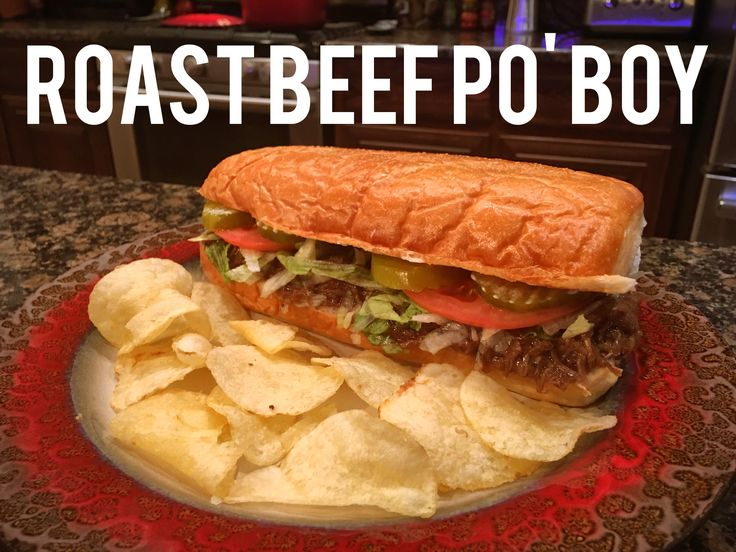 ROAST BEEF PO' BOYS Angus Chuck Roast (3lbs) Kosher Salt & Pepper (to season roast) Vegetable Oil 1 Yellow Onion 2 Tbsps of Minced Garlic 1 Cup of Water 1 Box Onion Soup Mix (2 packets) 1 Tbsp of Worcestershire Sauce 1 Tbsps of Pickapeppa Sauce 2 Tbsps of cornstarch 1/2 Cup of Cold Water. Softened Butter Po Boy Buns Mayonnaise Lettuce Tomatoes Pickles