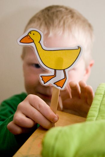 five ducks printable puppets