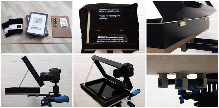 Hack a DIY teleprompter from IKEA RIBBA picture frames