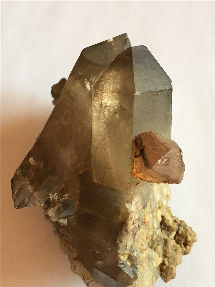 Fluorite su quarzo fumè  -Monte Bianco