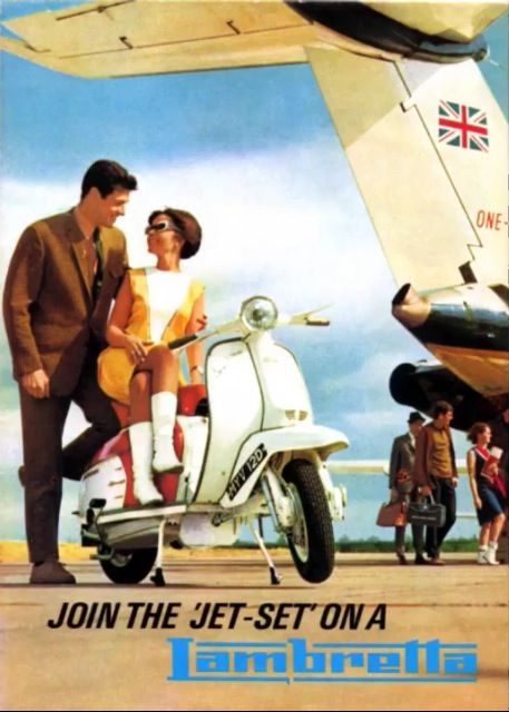 Lambretta advert classic 1960s Vespa Mod Mini Culture Scooter Vintage Style Fashion
