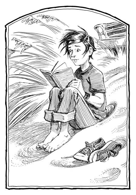 An older Jared Grace, by Tony Diterlizzi. From the sequel series.