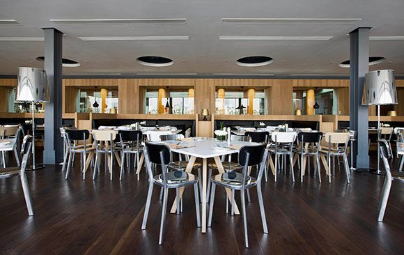New Heights Restaurant, China - HOSPITALITY-Reclaimed Wood Flooring