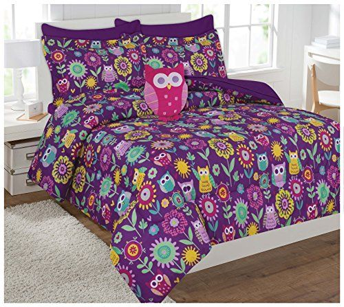 Fancy Collection 6pc Kids/teens Owl Flowers Design Luxury Bed-in-a-bag Comforter Set- Furry Buddy Included - Twin Size >>> Continue @ http://www.ilikeboutique.com/boutique/fancy-collection-6pc-kidsteens-owl-flowers-design-luxury-bed-in-a-bag-comforter-set-furry-buddy-included-twin-size/?ab=300616093311