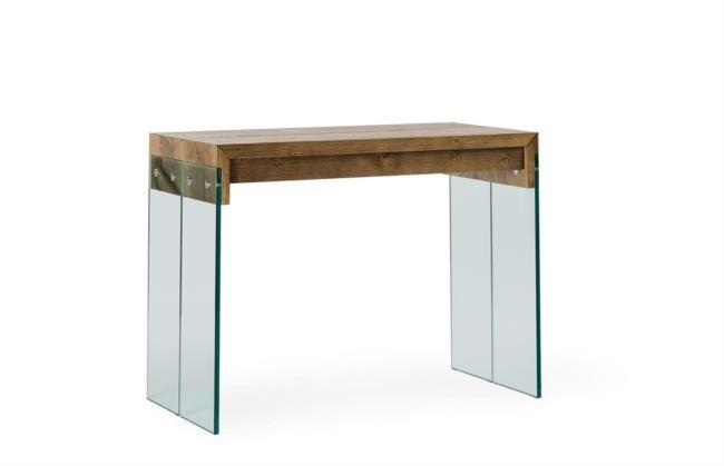 Tavolo in legno e vetro allungabile fino a tre metri