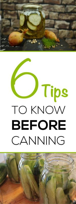 Learn great tips before you start canning, save money and eat healthy food throughout the winter!