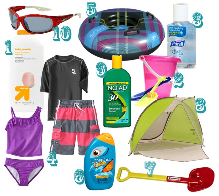 Top 10 Beach Necessities with Kids! It's always the little details that make a big difference and natalme has it right!