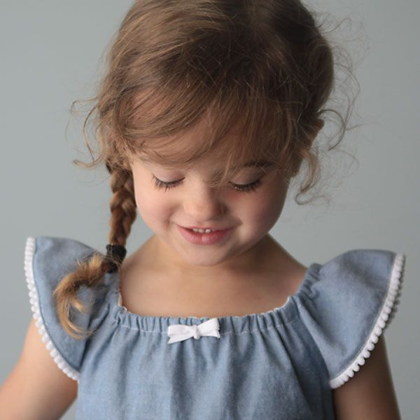 simple girl's sundress with flutter sleeves | sewing tutorial