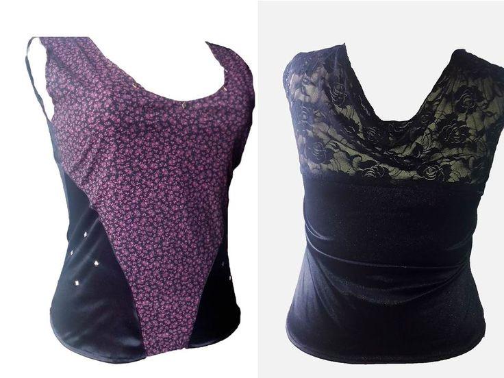 Mega #sexy con esta blusa de blonda con espalda escotada y detalles con taches en cuello y cintura.#plus #fashion $20000 COP