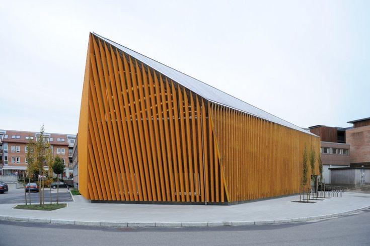 library4 620x412 Library in Vennesla  by Helen & Hard