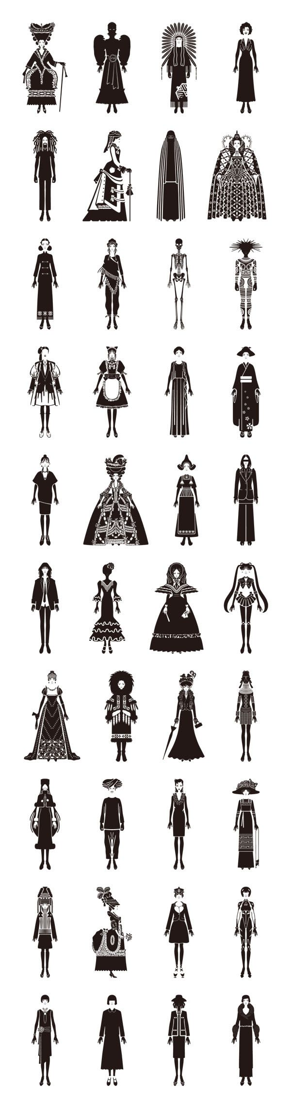 These silhouettes are amazing! And I spy sailor moon and tron!! :) Would make an awesome tattoo, I love the indian one with the headdress