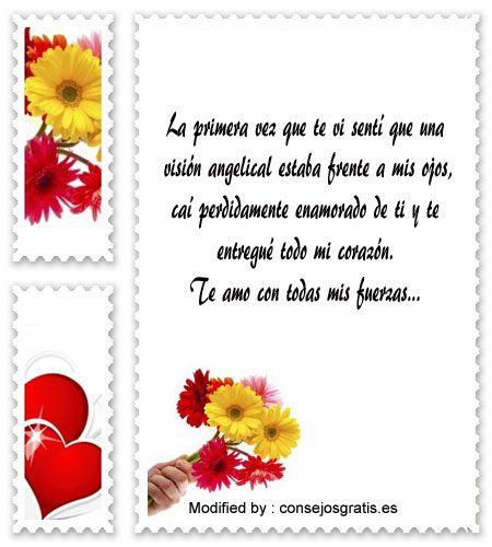descargar frases de amor gratis,buscar textos bonitos de amor:  http://www.consejosgratis.es/lindas-frases-de-amor-para-mi-enamorada/