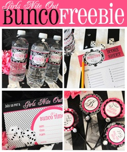 Bunco Printables!