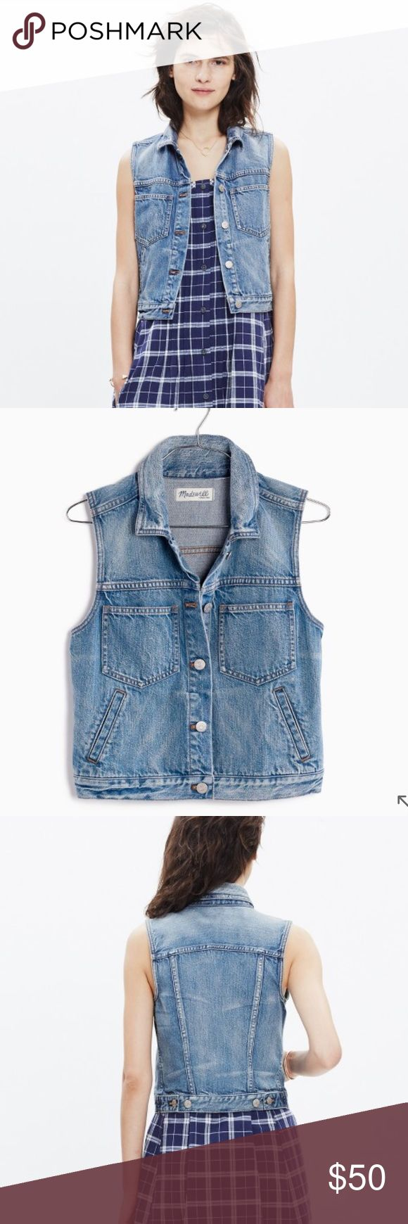 🆕 Madewell Denim Vest Like new! Worn once for a couple hours. Perfect layering item to elevate your outfit. Madewell Jackets & Coats Vests