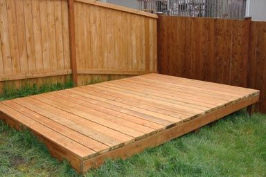 Platform deck need a place for your shed we built this for Simple platform deck plans