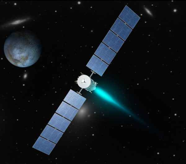 Ion Thrusters In NASA Mission Redraw The Boundaries Of Space Exploration- Dawn's Ion Engine Artist's rendering, NASA/JPL