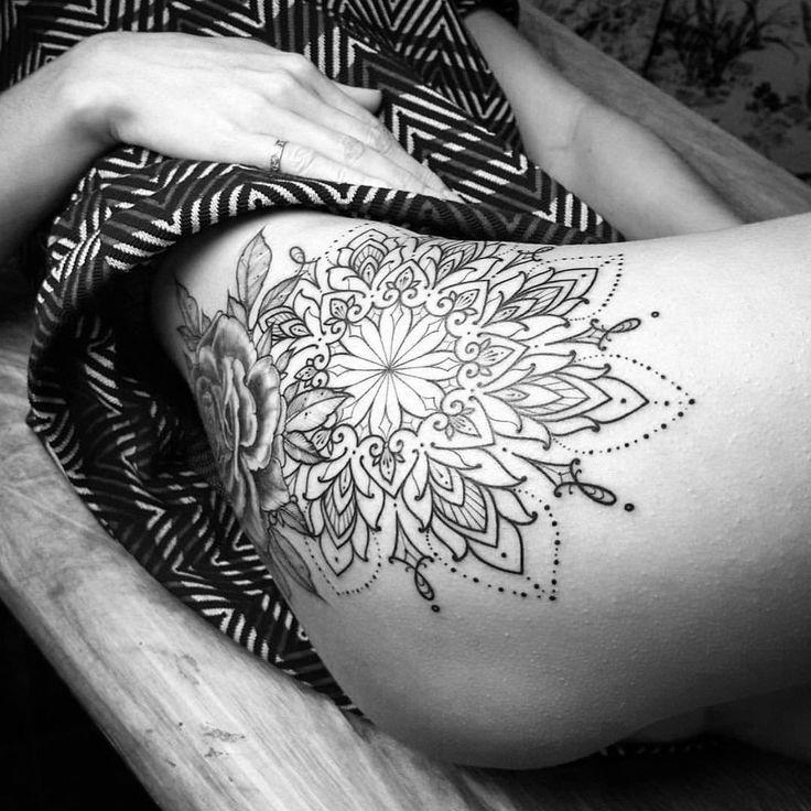 1000+ ideas about Mandala Thigh Tattoo on Pinterest | Thigh ...