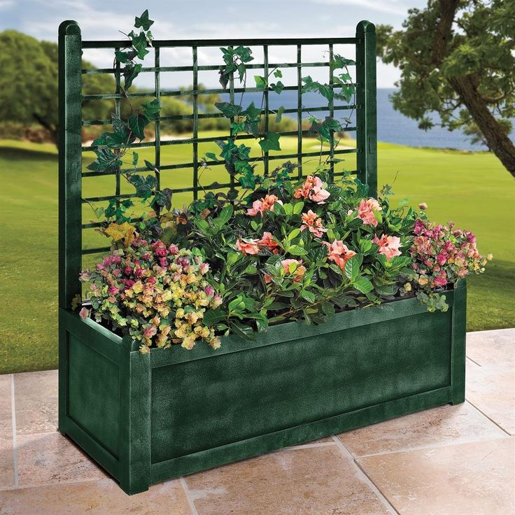 Brylanehome flower box with trellis patio