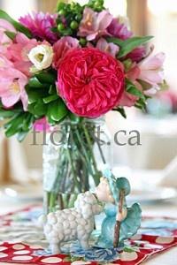 Vintage Wedding Centerpiece In Pink Tones