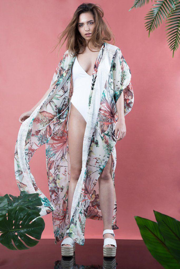 Maxi Chiffon kimono
