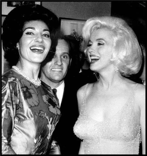 Callas and Monroe