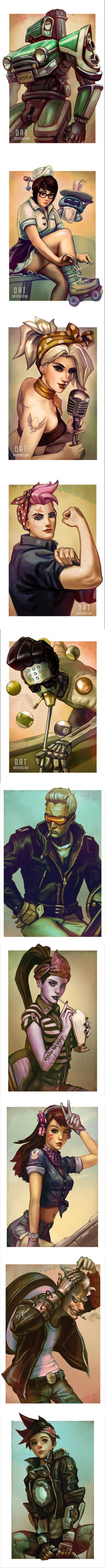 Some cool Overwatch art!