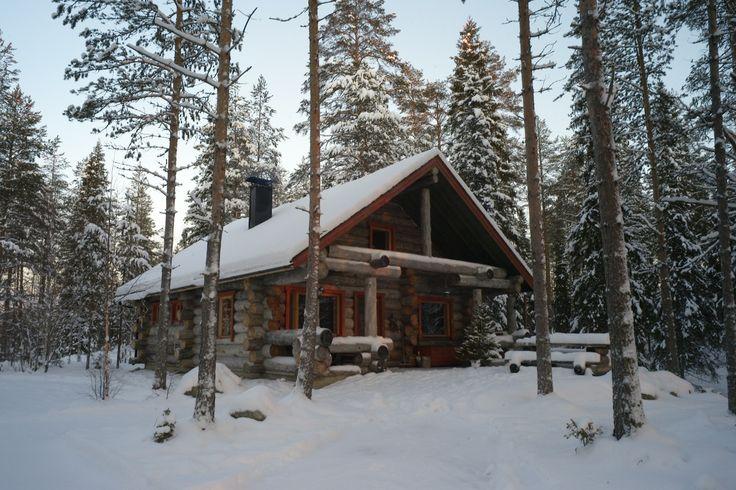 hirvipirtit lapland cabins Finland, Taivalkoski, cabin nr 2, winter outside