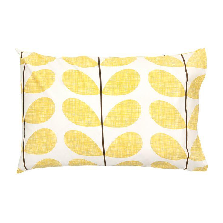 Discover+the+Orla+Kiely+Scribble+Soft+Pillowcases+-+Set+of+2+-+Lemon+at+Amara