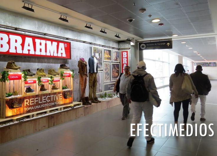 Una gran forma de acercar su marca y sus productos a clientes potenciales - Vitrina abierta en Aeropuertos #ideasefectivas  Campaña: Brahma