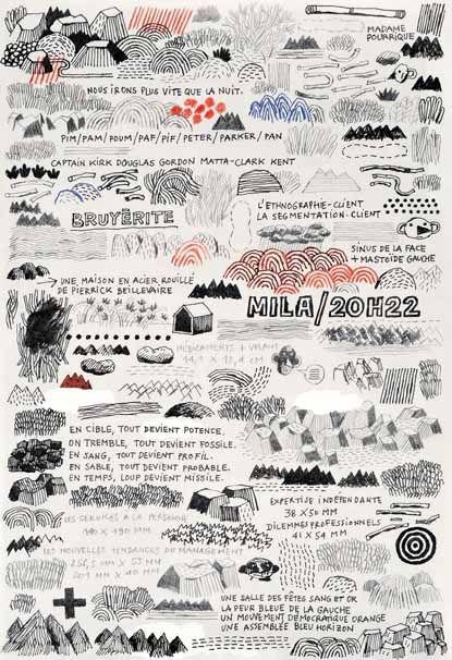 Jochen Gerner - branchages/ carnet de dessins téléphoniques