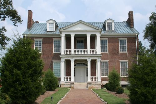 The Hermitage, Andrew Jackson's home. A small version of this home would be very very liveable, wide central hall, porches!