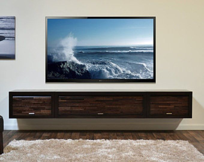 Floating Tv Stand Mid Century Modern Entertainment Center Etsy Wall Mount Tv Stand Wall Mount Entertainment Center Tv Stand And Entertainment Center