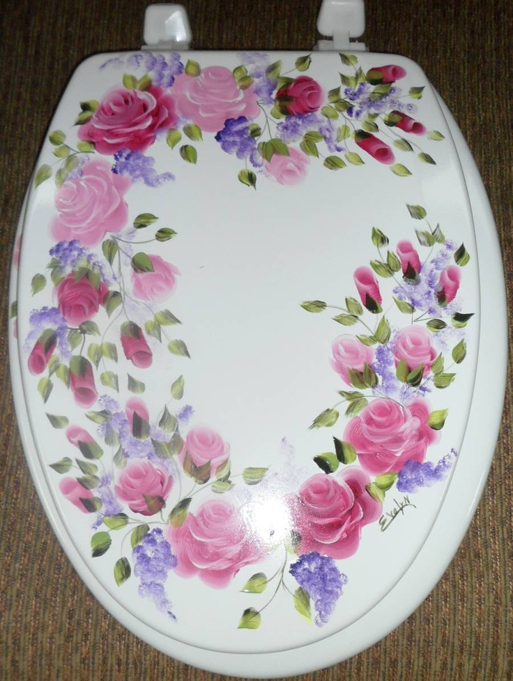 Shabby chic toilet seat cover the shabby chic me for Commode style shabby chic