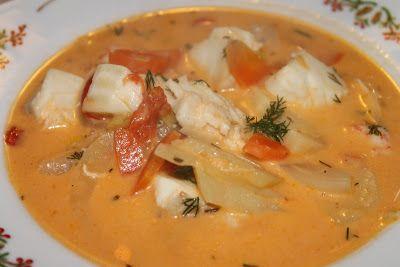 Fisksoppa med tomat