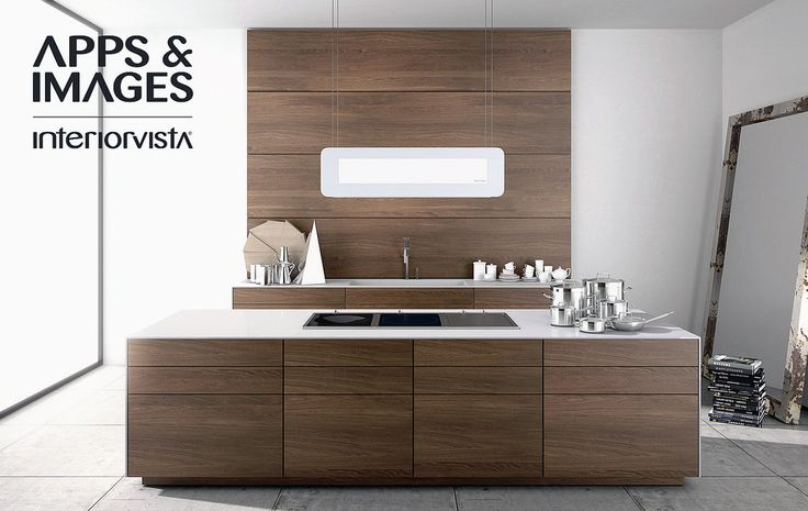 Contemporary Kitchens Collection from Cuisines Morel Modern Walnut ...