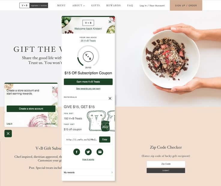 Vegetable + Butcher uses custom illustrations to give their program a distinct personality.