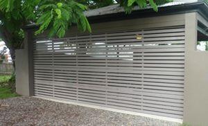 horizontal aluminium slat garage door
