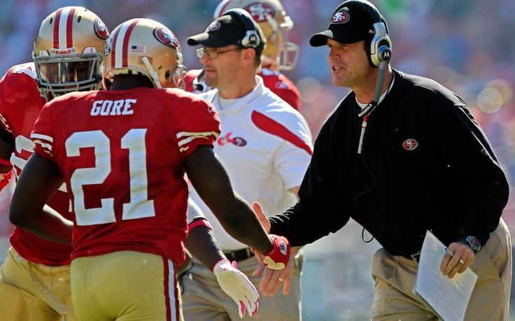 A note from Jim Harbaugh about Frank Gore ...