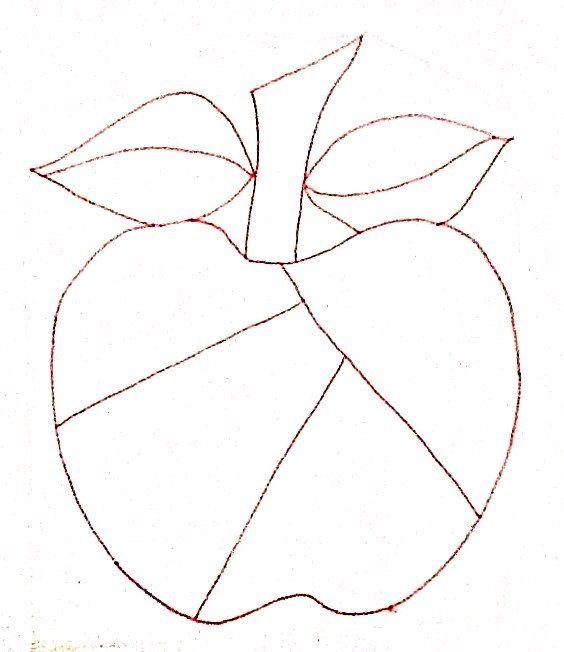 Dibujo de manzana