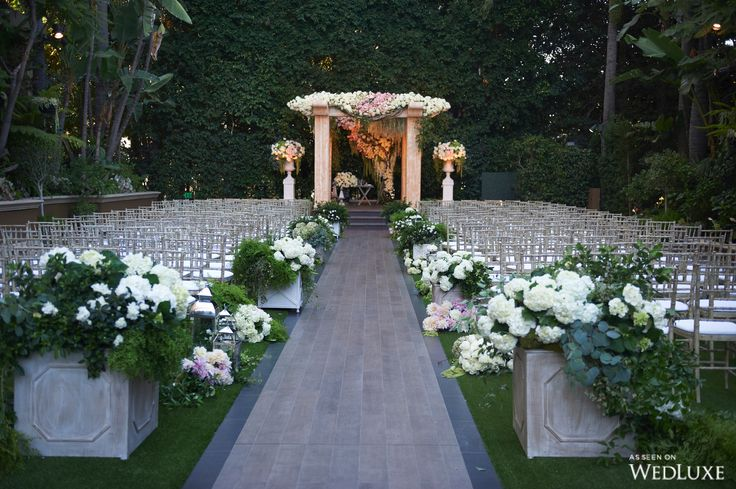 WedLuxe– An Enchanting, Outdoor Beverly Hills Wedding at the Four Seasons Los Angeles | Photography by: Dalal Photography Follow @WedLuxe for more wedding inspiration!