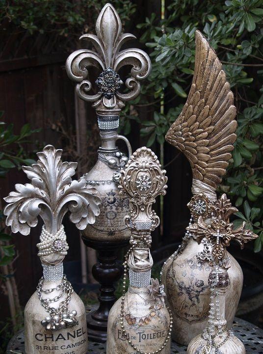 Michelle Butler Designs Custom Decorative Bottle