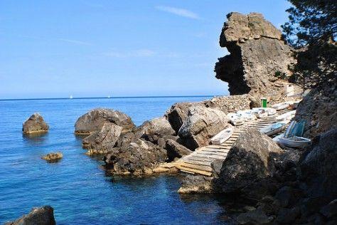 Port de Sa Pedra de S'Ase ( Banyalbufar) | Una Arjonera en Mallorca